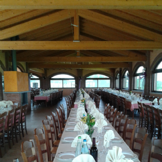 Una sala da pranzo