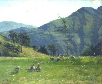 I monti presso la casa di Roncolo con Tacchini