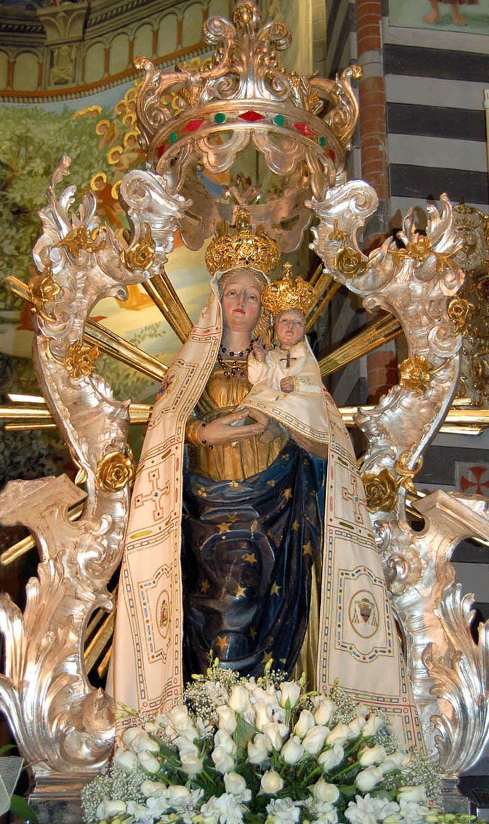L'apparizione della Beata Vergine della Quercia, patrona della Val Nure.